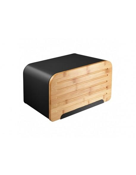 Chlebak AMBITION Nordic z deską do krojenia 35 x 21,5 x 21,5 cm czarny