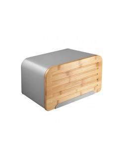 Chlebak AMBITION Nordic z deską do krojenia 35 x 21,5 x 21,5 cm szary