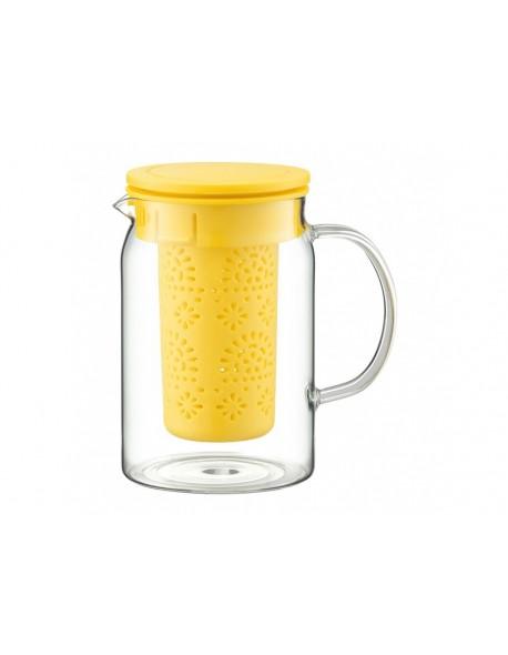Dzbanek żaroodporny z zaparzaczem AMBITION Nordic żółty 1000 ml
