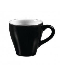 Filiżanka espresso 70 ml, czarno - biała - ARIANE Amico Cafe