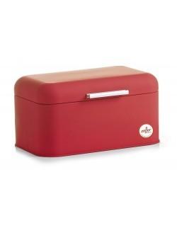 """Chlebak metalowy """"soft touch"""" czerwony 30,5 x 18,5 cm Zeller"""