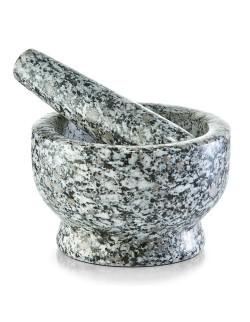 Moździerz granitowy szary 8 cm - Zeller