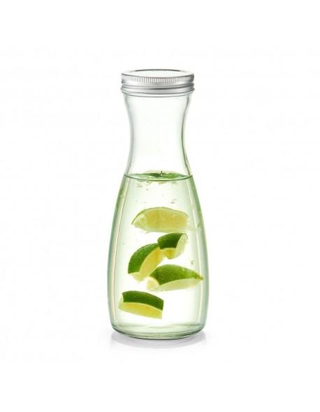 Szklana butelka z metalową zakrętką 1000 ml - Zeller