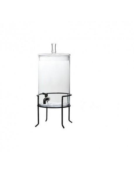 Dyspenser na stojaku do soków, szklany o pojemności 7,5 litra.