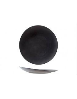 Talerz płaski z uniesionym rantem 310 mm czarny - ARIANE Dazzle Black