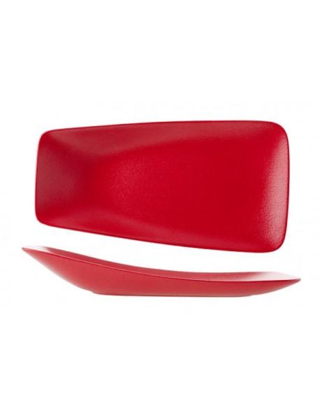Talerz prostokątny 330 x 230 mm czerwony - ARIANE Dazzle Red