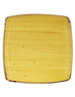 Talerz kwadratowy 268 mm żółty - CHURCHILL Stonecast Mustard Seed