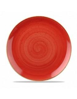 Talerz płytki 217 mm czerwony - CHURCHILL Stonecast Berry Red