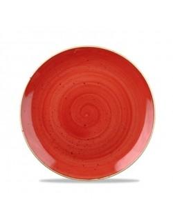 Talerz głęboki bez rantu 1140 ml czerwony - CHURCHILL Stonecast Berry Red