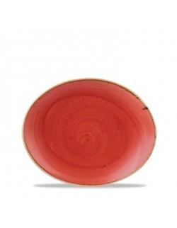 Talerz owalny 192 mm czerwony - CHURCHILL Stonecast Berry Red