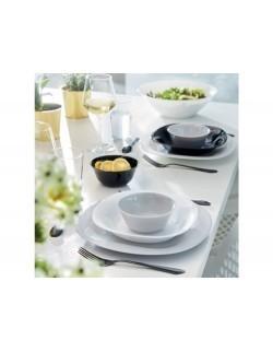 Komplet obiadowy Carine 18-elementowy biało-szary - LUMINARC