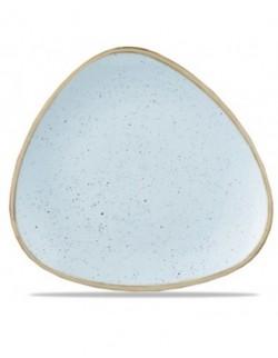 Talerz płytki trójkątny 229 mm - CHURCHILL Stonecast Duck Egg