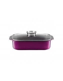 Brytfanna z pokrywką Aroma Knob System AMBITION Glamour 40,5 x 25,5 cm purple