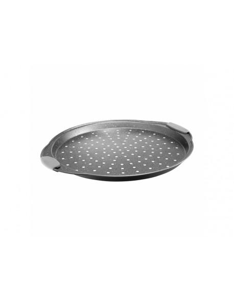 Forma do pizzy z silikonowymi uchwytami AMBITION Glamour 33 cm szary