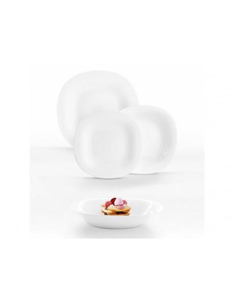 Komplet obiadowy LUMINARC Carine White Neo 19-elementowy (półmisek prostokątny 35 x 24 cm)