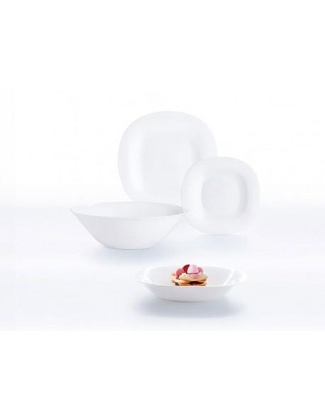 Komplet obiadowy LUMINARC Carine Neo White 19-elementowy (salaterka 27 cm)