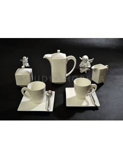 Komplet kawowy AMBITION Porto 190 ml 17-elementowy