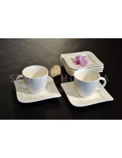 Komplet kawowy AMBITION Fala 220 ml 12-elementowy