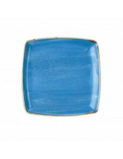 Talerz płytki kwadratowy 268 mm niebieski - Churchill Stonecast Corn Flower