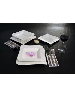 Komplet obiadowy Fala 42-elementowy AMBITION