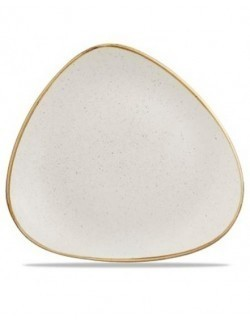 Talerz płytki trójkątny 310 mm - CHURCHILL Stonecast Barley White