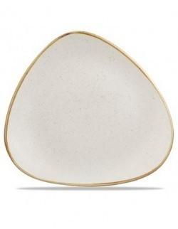 Talerz płytki trójkątny 229 mm - CHURCHILL Stonecast Barley White