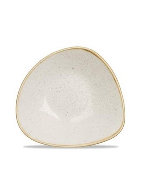 Miska trójkątna 370 ml - CHURCHILL Stonecast Barley White