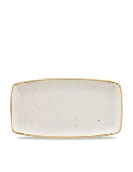 Miska trójkątna 260 ml - CHURCHILL Stonecast Barley White