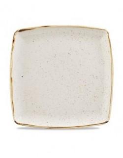 Talerz płytki kwadratowy 268 mm - CHURCHILL Stonecast Barley White