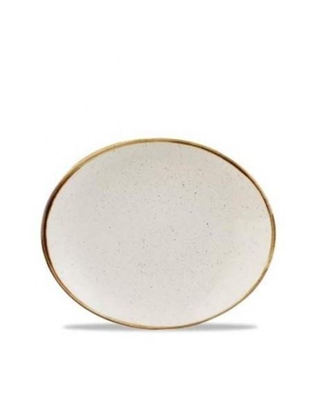 Talerz owalny 192 mm - CHURCHILL Stonecast Barley White