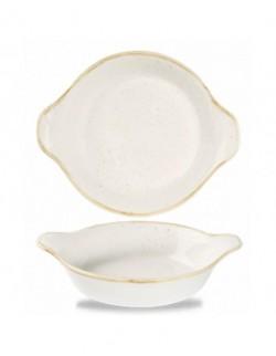 Okrągłe naczynie z uszami 180 mm biały - CHURCHILL Stonecast Barley White