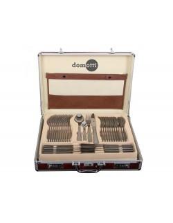 Komplet satynowanych sztućców Ewa to elegancki zestaw wykonany zestali nierdzewnej, zapakowany w aluminiową walizkę to doskonał