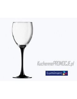 Kieliszki do białego wina 190ml / komplet 6 szt. - Domino Czarne Luminarc