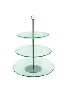 Patera szklana AMBITION Leila trzypoziomowa 30 cm