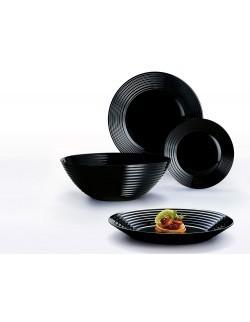Komplet obiadowy Harena 19-elementowy czarny LUMINARC