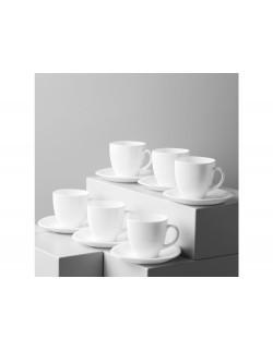 Komplet kawowy LUMINARC Carine White 220ml - 12 części