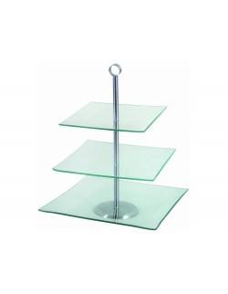 Patera kwadratowa trzypoziomowa AMBITION Laura 29,3 x 29,3 cm