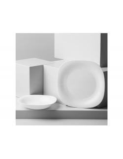 Talerz głęboki Carine White 21 x 21 cm LUMINARC