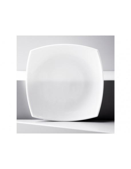 Talerz deserowy 18,5 cm - Quadrato Białe