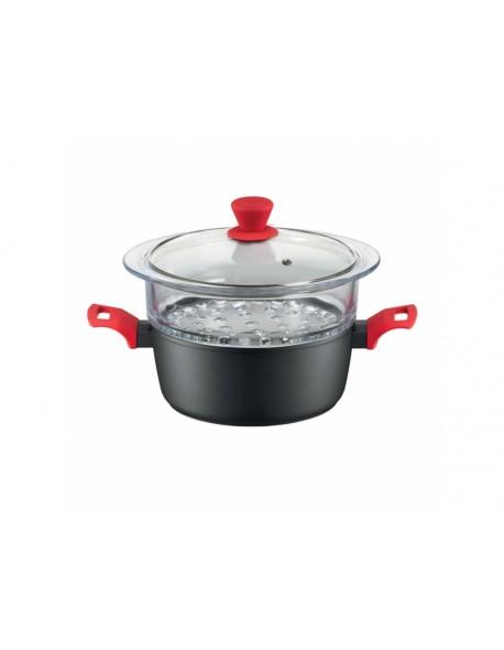 Garnek do gotowania na parze AMBITION Karo z powłoką Qualum Basic 20 cm