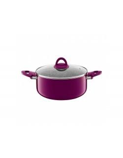 Garnek z pokrywką AMBITION Glamour 28 cm purple