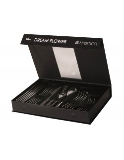 Komplet sztućców AMBITION Dream Flower 24-elementowy Gift Box