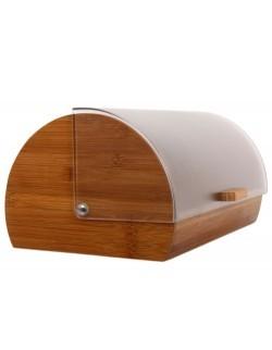 Chlebak drewniany AMBITION Gordon z plastikową pokrywą 39 x 28 x 18,5