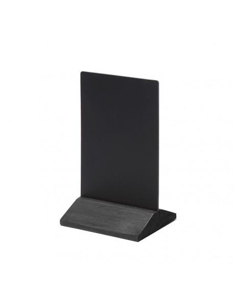 Dwustronny drewniany stojak na menu 100 x 160 mm JD NATURA - czarny