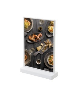Kolorowy stojak na menu SCRITTO 148 x 210 mm - biały