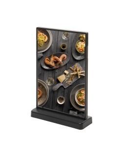 Kolorowy stojak na menu SCRITTO 105 x 148 mm - czarny