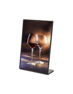 Kolorowy stojak na menu SCRITTO 148 x 210 mm - czarny
