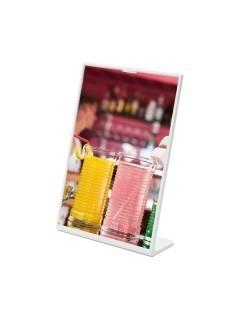 Kolorowy stojak na menu SCRITTO 105 x 148 mm - biały
