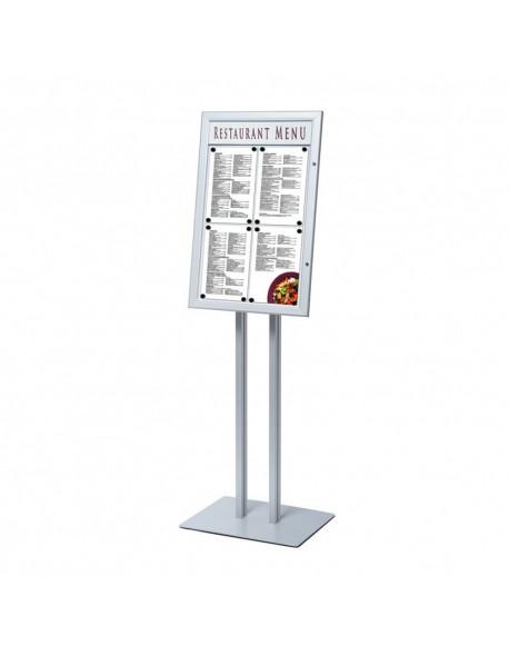 Wolnostojący stojak na menu z podświetleniem LED - 4 x A4
