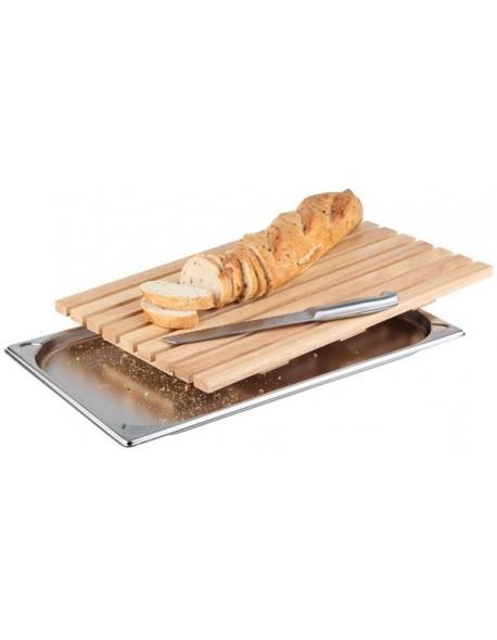 Deska prostokątna drewniana do krojenia pieczywa530 x 325 mm APS